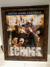 Notre Dame signed football poster St. Catharines, L2M 6Z6