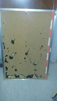 Cork board with aluminum frame