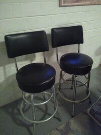 two black leather padded stools Loudonville, 44842