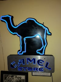 Camel store neon signage