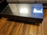 Contemporary coffee table w hidden