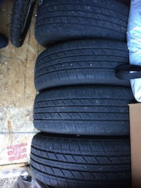 Four black rubber car tires Ottawa, K1K 3M7