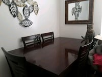 Dark Brown Wooden Table With Leaf and 8 Chairs Bakersfield, 93308