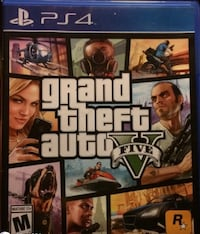 Grand Theft Auto Five PS4 game case Adamstown, 21710