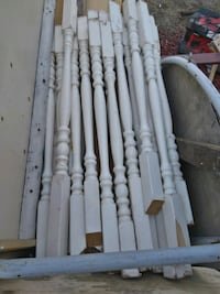 Wood spindles for railing  London, N6J