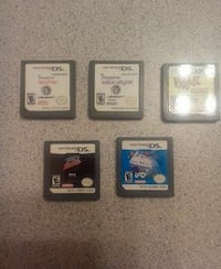 five assorted Nintendo DS game cartridges Stratford, N5A 2A5