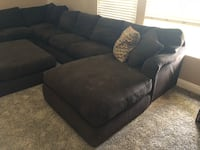 Brown fabric sectional sofa with ottoman Bakersfield, 93308