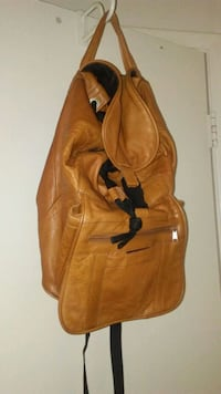 All leather backpack