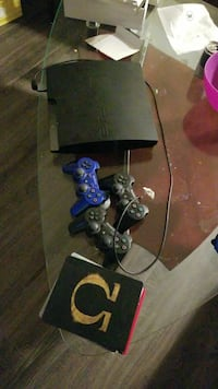 Ps3 with 3 controllers and 4 games