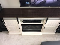 TV Stand and Electric Fireplace