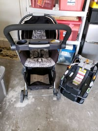 Chicco keyfit 30 car seat and a caddy.