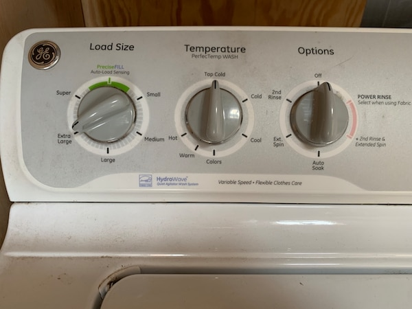 GE HydroWave Washing Machine with Stainless Steel Drum Model GTWN4250D1WS