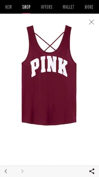 red and white Pink tank top Houston, 77060