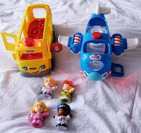 Fisher-price Travel together plane and bus - $25 Toronto, M9B 6C4