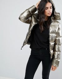 Brave Soul Metallic Padded Jacket