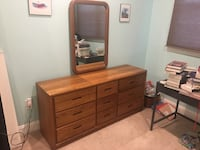 brown wooden dresser with mirror Arlington, 22209
