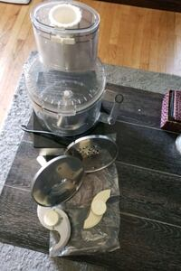 cusinart food processor. hardly used some attachme