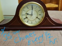 brown framed mantel clock