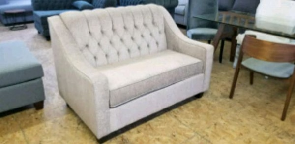 Brand new tufted loveseat Canadian made $400