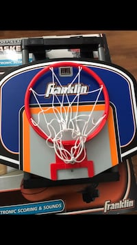 white and red basketball hoop