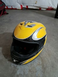 yellow, grey and black full face helmet West Kelowna, V4T 2P6