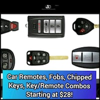 Car Remotes, Fobs, Chipped Keys, Key/Remote Combos Albuquerque, 87111