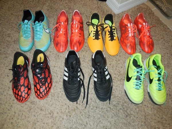 Used Nike Adidas Indoor Turf Soccer Shoes For Sale In Manassas Letgo