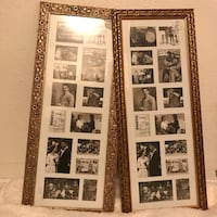 Gold picture frames wall decor Aurora, 80012