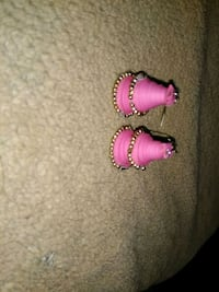 pair of pink hook Quilling earrings Ahmedabad, 380018