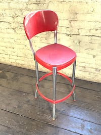 Vintage 1950s Metal Kitchen Stool - REDUCED