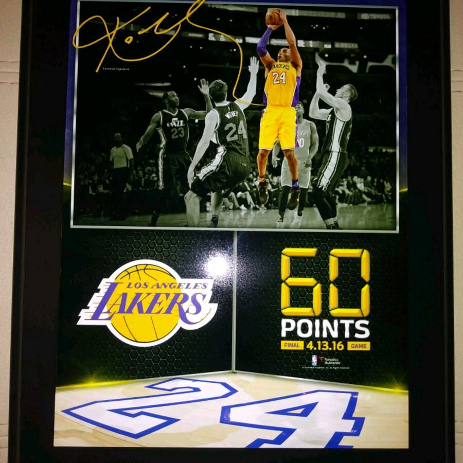 Koby Bryant sign plaque