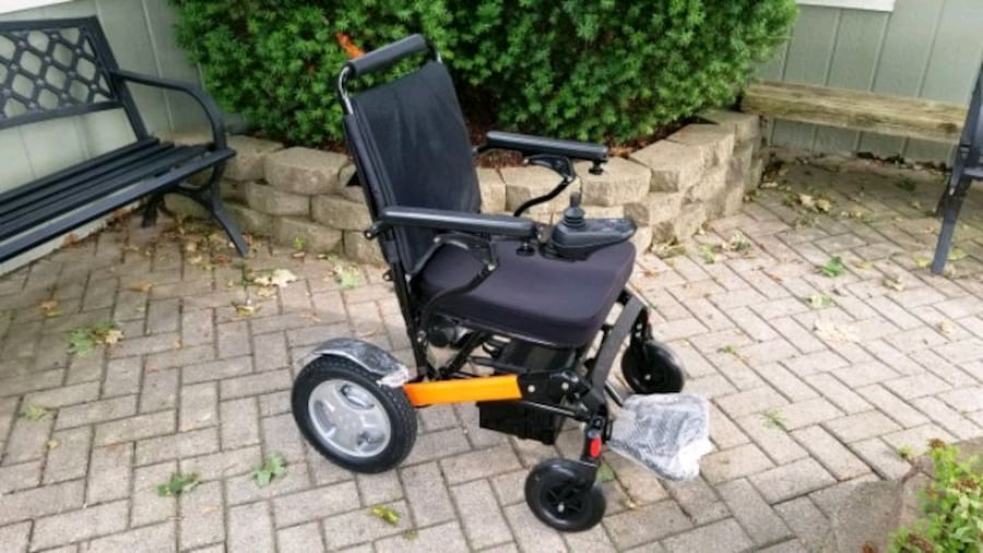 Fold Up Portable Light Weight Power Chair Brand Nu 576fe3f5-ce47-44be-a3cd-3a100d823738