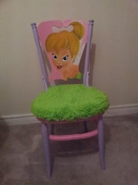 Green and pink tinker bell print chair Newmarket
