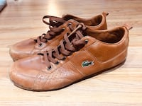 Lacoste brown soft leather sneakers size men's 11 Vancouver, V5M