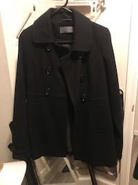 Black womens coat size small can fit medium pick up only  Stockton, 95209
