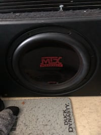 "12"" MTX subwoofer with sledge hammer box Cambridge, N1R 3N2"