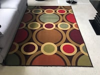 white and red area rug Herndon, 20171