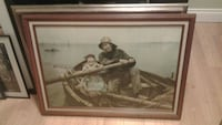 """Renouf """"Helping Hand"""" Signed Professionally Framed Mississauga, L5J 2E5"""