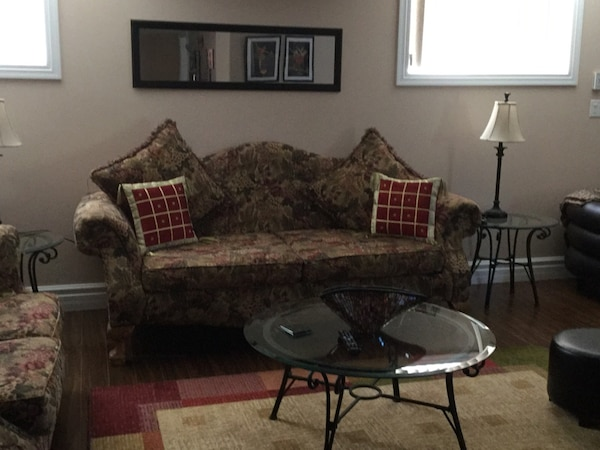 Sofa with a love seat and recliner.