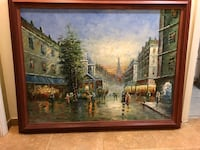 brown wooden framed painting of house Las Vegas, 89117