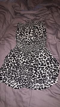 black and white leopard print sleeveless dress Niagara Falls, L2E