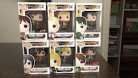 Funko pop attack on titan set Eren mikasa Levi Vaughan, L4H 2V6