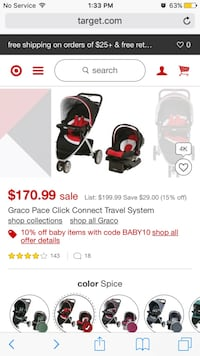baby's black and red travel system screenshot Damascus, 20872