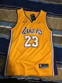 Yellow and black lakers 24 jersey