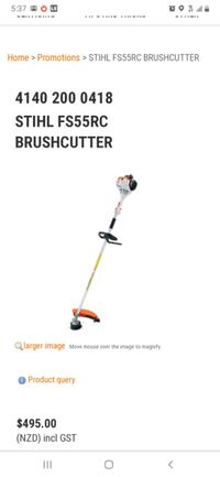 Stihl brushcutter fs55rc with cutter head and a weedeater head