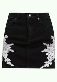 BNWT DENIM LACE SKIRT