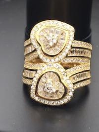 gold-colored and diamond ring Nashville