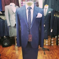 blue and gray suit jacket Montreal, H2N 1C8