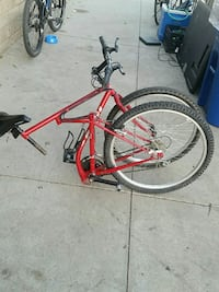 red folding bicycle Los Angeles, 91304