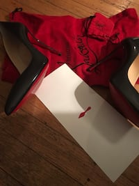 Christian Louboutin Pigalle Follies Leather Red Sole Pumps 100mm size 37 Philadelphia, 19135